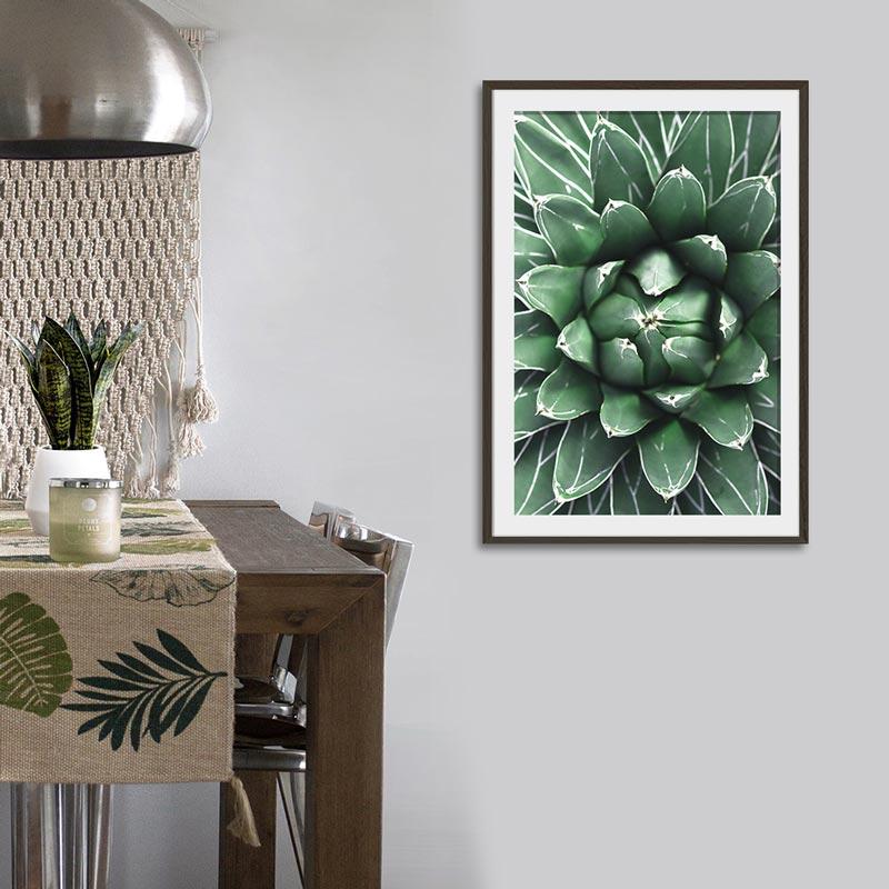 poster cactus close up groen