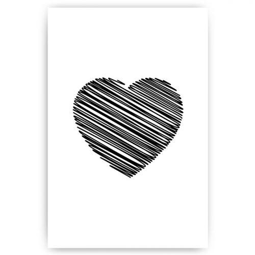 poster illustratie hart