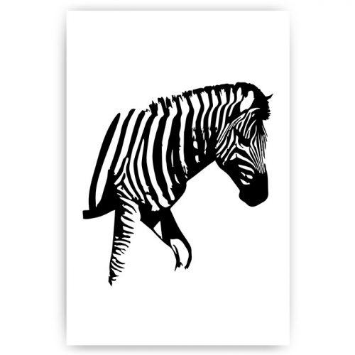 poster zebra zwart wit