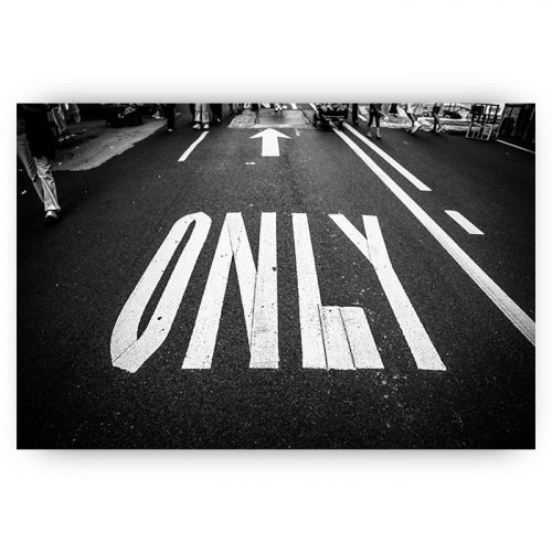 poster only road