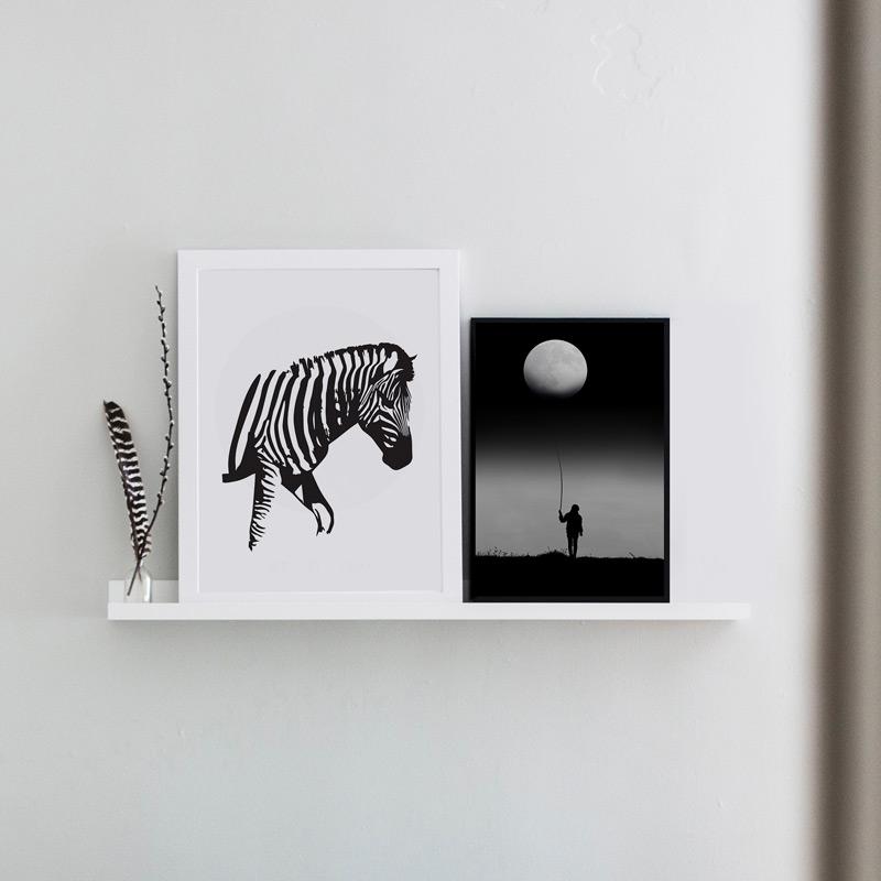 poster zebra illustratie