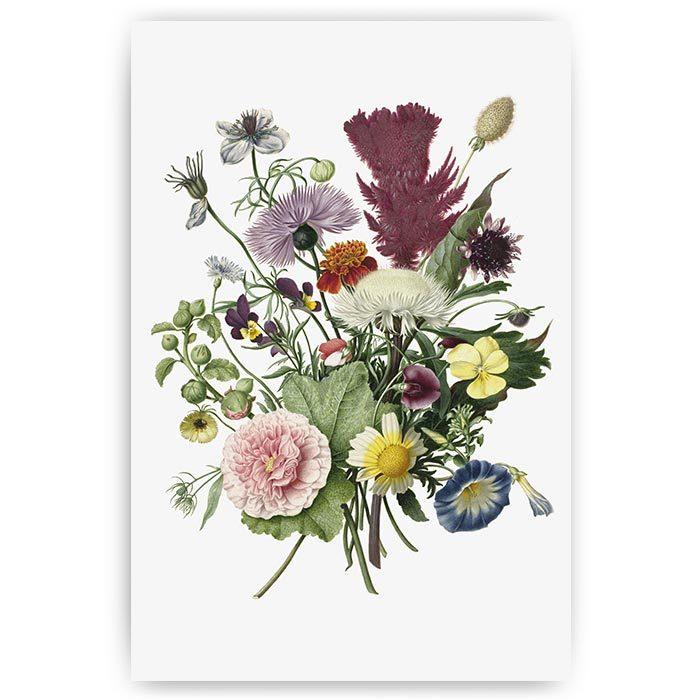 poster bloemen vintage