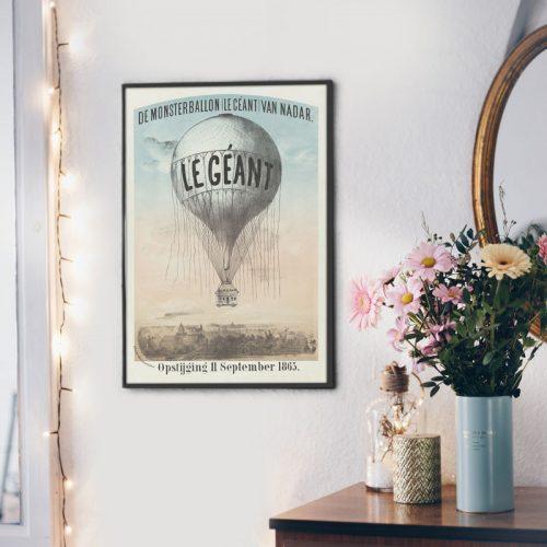 poster luchtballon vintage