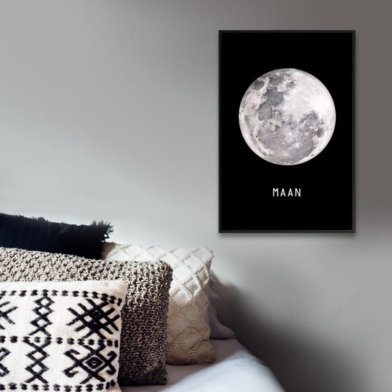 poster volle maan tekst