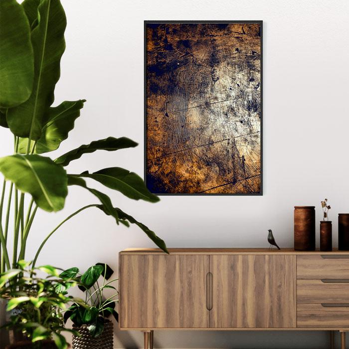 muurposter verweerd hout