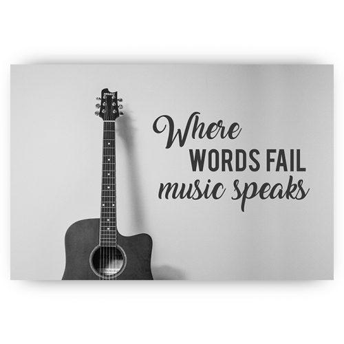poster muziek gitaar quote
