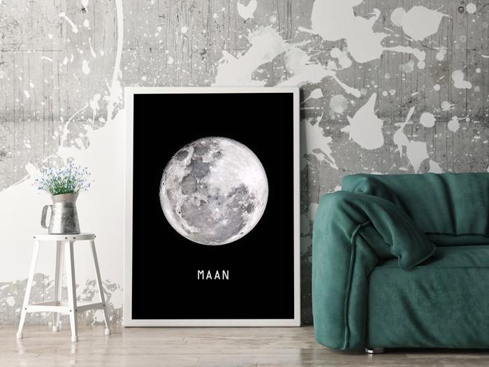 muurposter volle maan