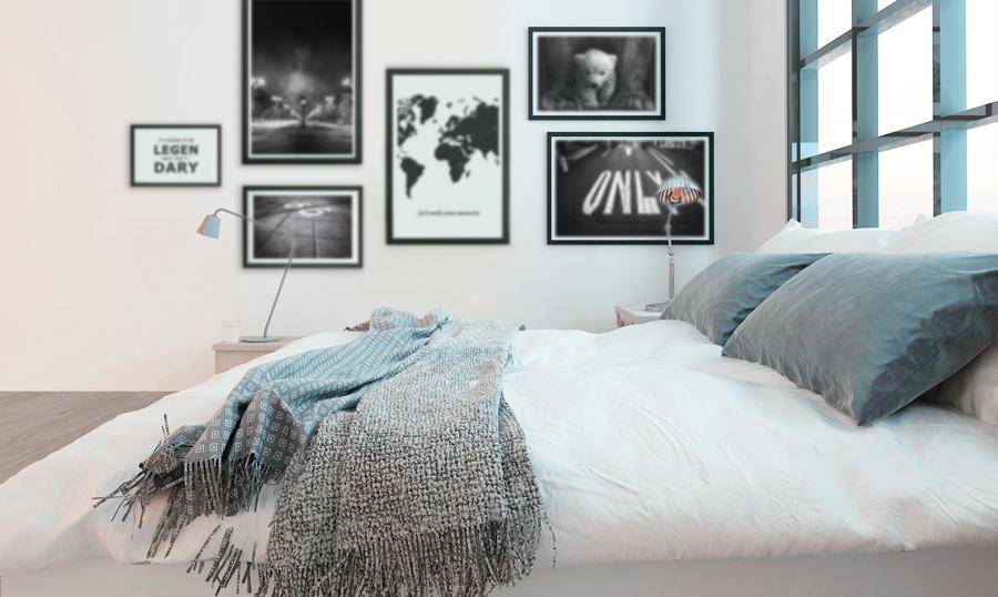 Posters In Slaapkamer : Door een mooie afbeelding of pakkende tekst toe te voegen krijgt