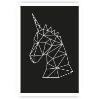 Muurposter geometrische unicorn