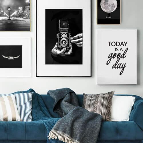 poster black & white zwartwit