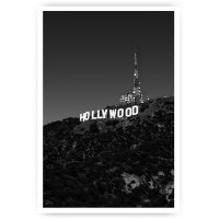 poster hollywood sign