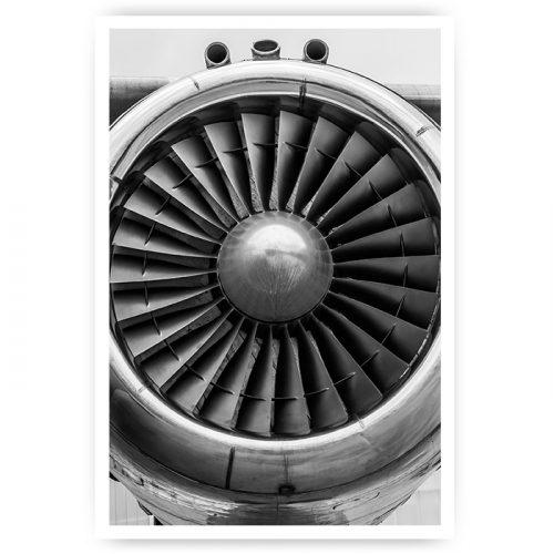 poster motor vliegtuig