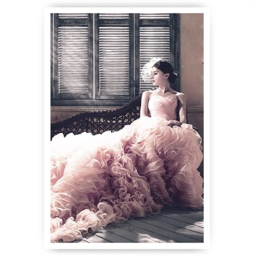 poster vrouw met jurk elegant