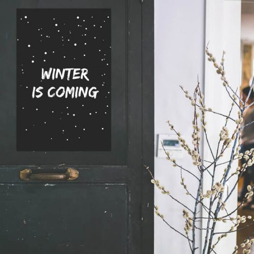 poster winter is coming tekst