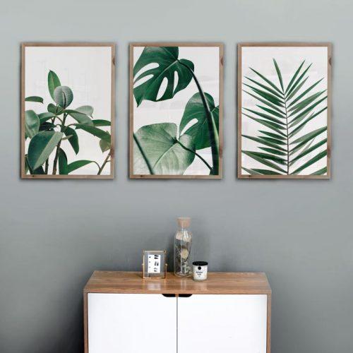 poster nordic plant bladeren