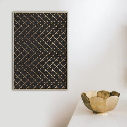 poster artdeco patroon nr1