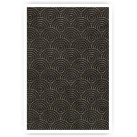 poster artdeco patroon rond goud marmer