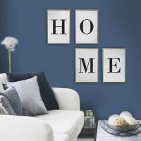 posterset home letters goud/marmer