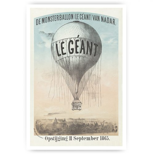 vintage poster luchtballon
