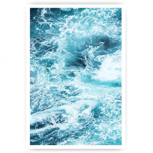 poster ruige zee golven