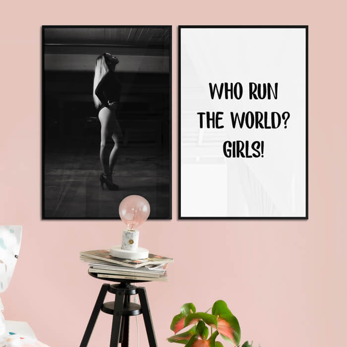 poster set who run the world