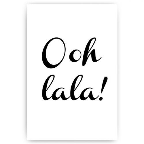 tekstposter ooh lala