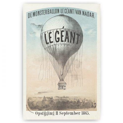 poster vintage luchtballon