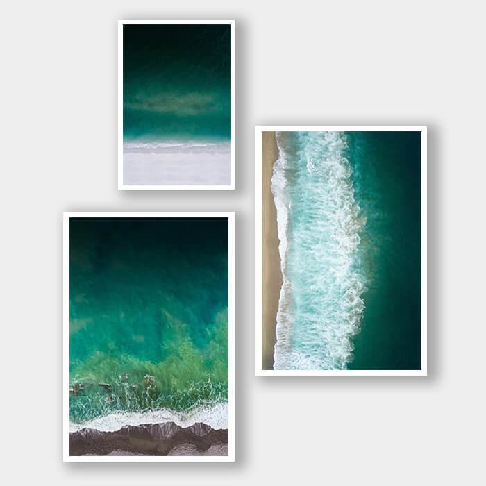 posterset groene zee