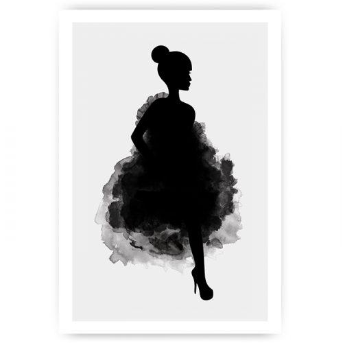 poster silhouet vrouw elegant