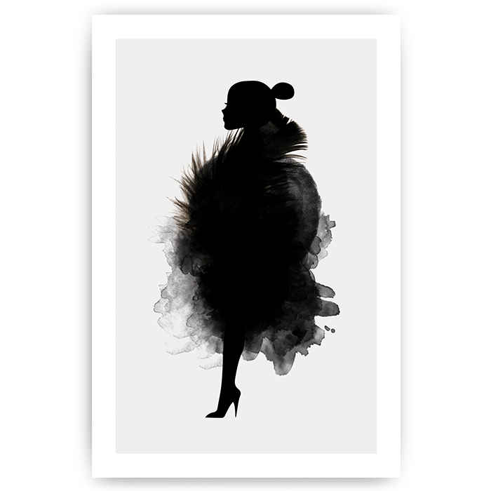 Poster silhouet vrouw