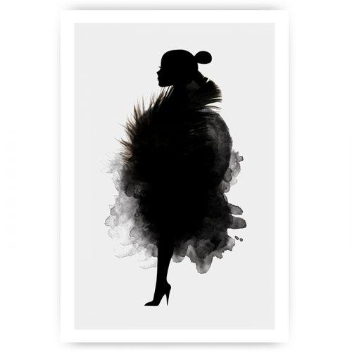 poster silhouet vrouw royal
