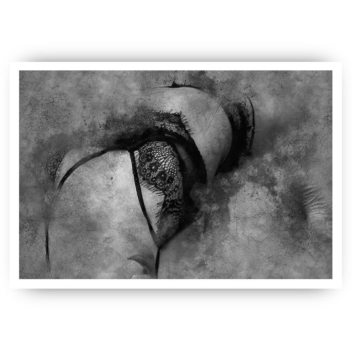 poster vrouw lingerie