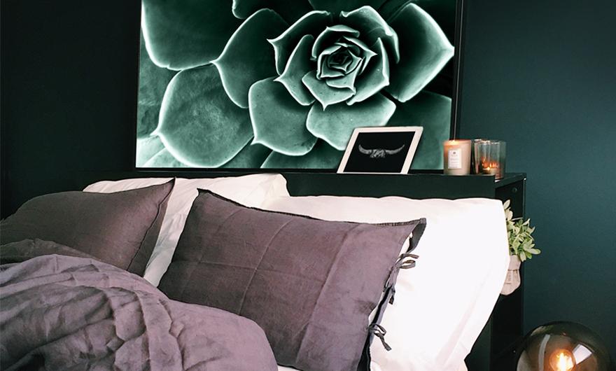 Posters voor in de slaapkamer sfeer aan de muur
