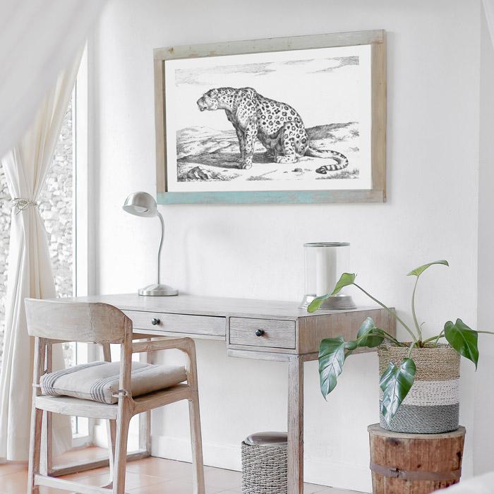 poster luipaard vintage