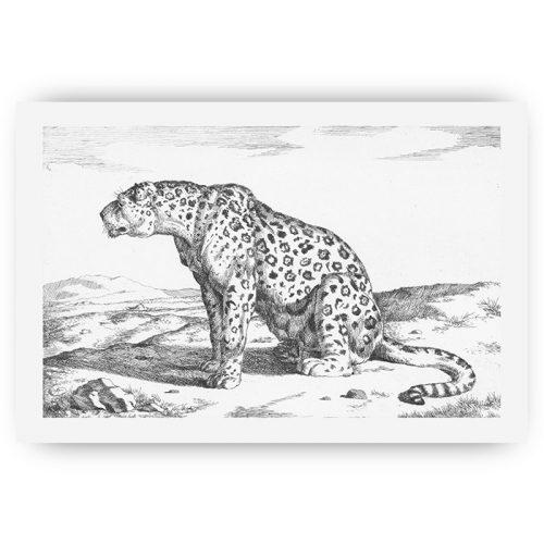 poster vintage luipaard