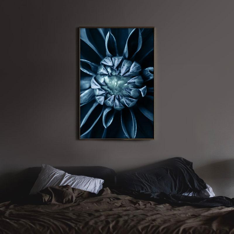 poster bloem blauw close-up