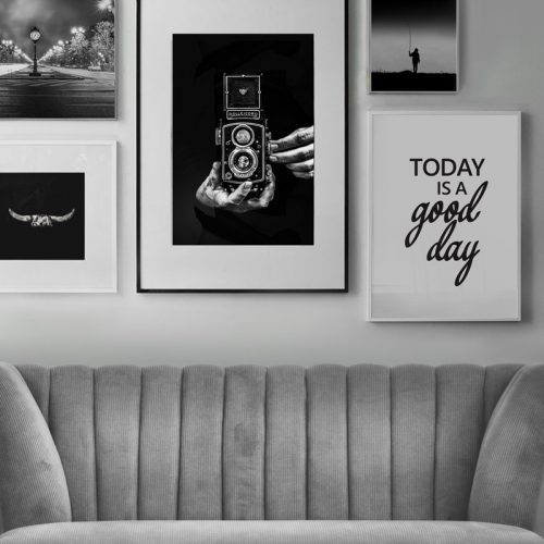 posterset zwart wit