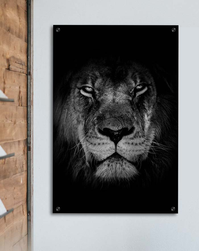 poster back to nature zwart wit