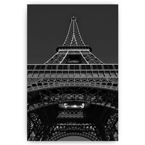 eiffeltoren parijs zwart wit