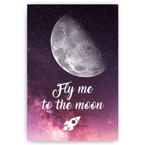 poster tekst fly me to the moon