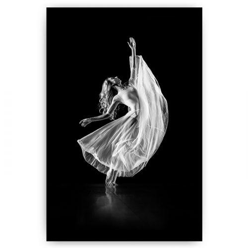 poster sierlijke danseres zwart wit
