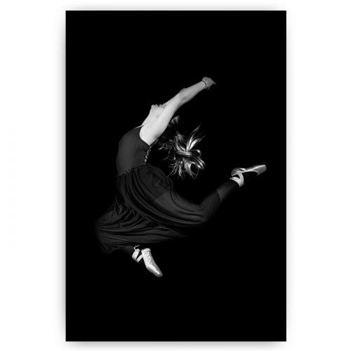 poster ballet danseres zwart wit
