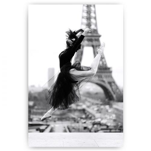 poster danseres Eiffeltoren