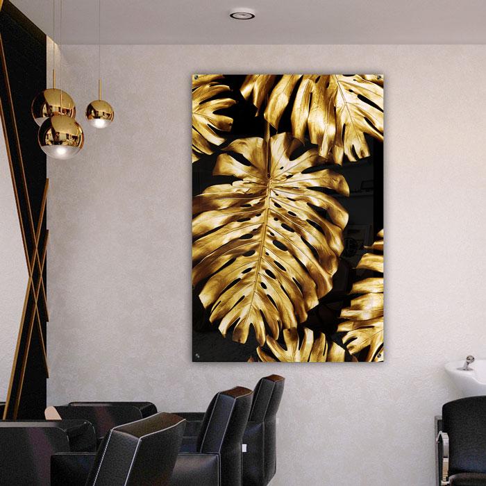 poster gouden bladeren plexiglas groot