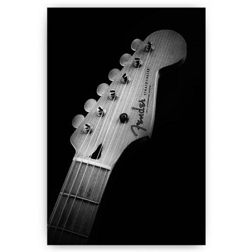 poster gitaar zwart wit