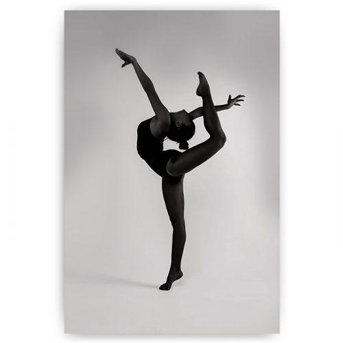 poster danseres zwart wit