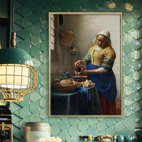 poster melkmeisje vermeer