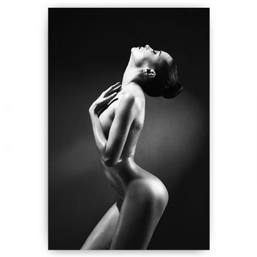 poster naakte vrouw zwart wit