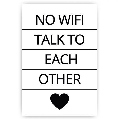 poster no wifi tekst