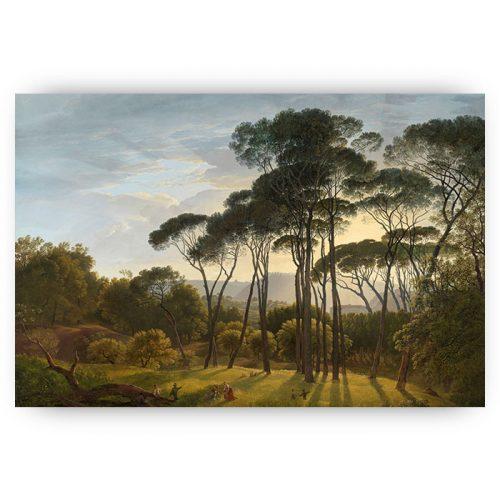 poster landschap met bomen